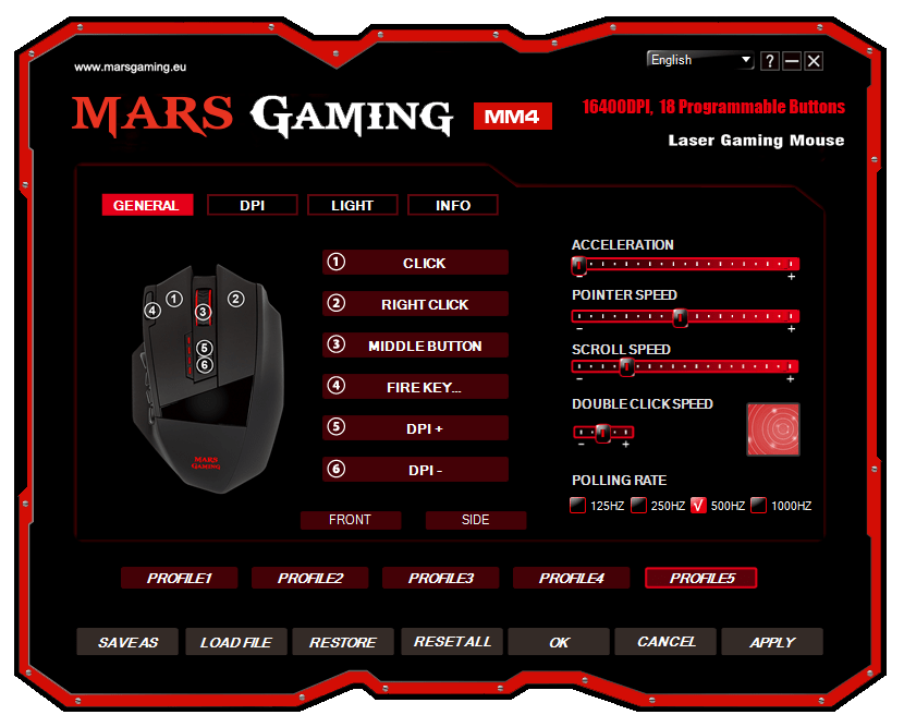 Mars Gaming MM4 review software