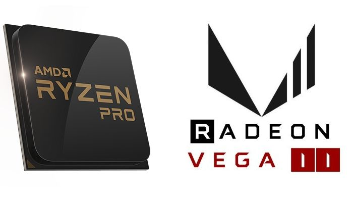 Logos de AMD Ryzen Pro y Radeon Vega 11