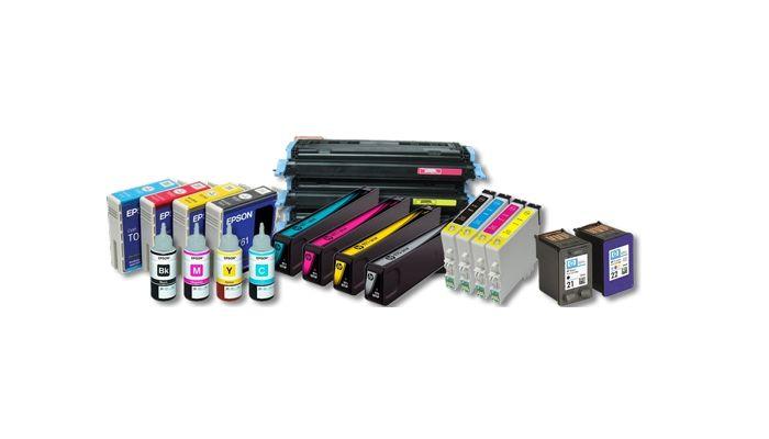 Toners, cartuchos de tinta y tinta recargable