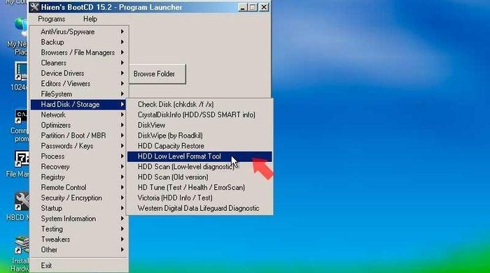 Interfaz Mini Windows XP