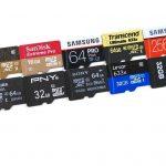 tarjetas de memoria microsd