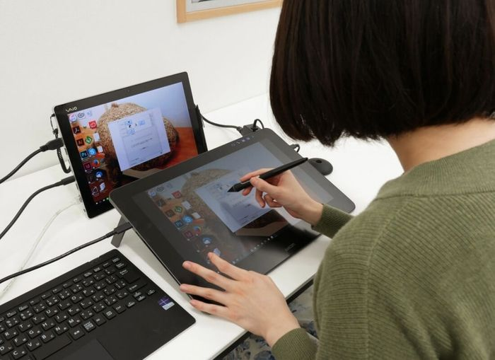 PC de diseño con drawing tablet