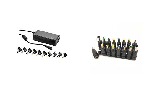 puntas de cargadores de portatiles en L y rectas
