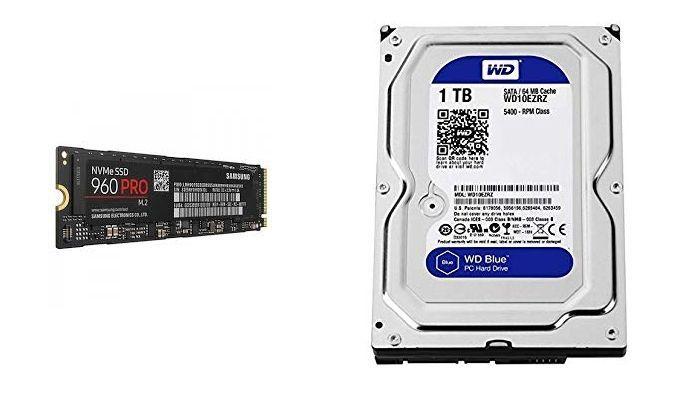 SSD M.2 y HDD 1TB