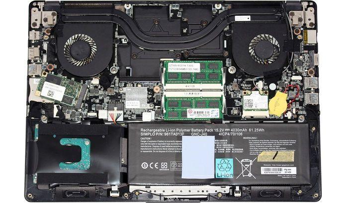 Hardware dentro de portátil