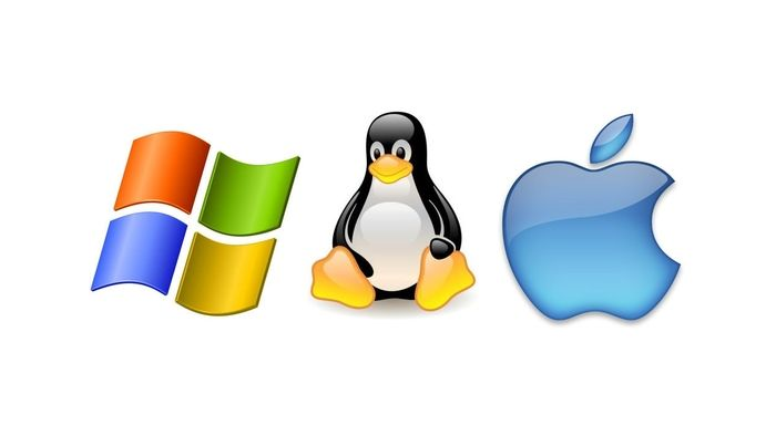 Logos de Windows, Linux y Mac