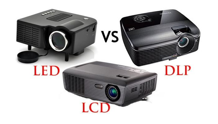 tecnologías led, lcd y dlp