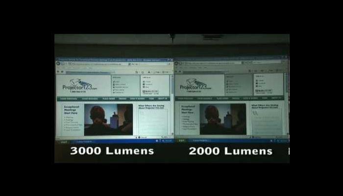 lumens: diferencia de 3000 y 2000 en una proyección