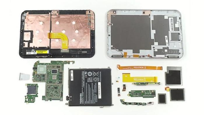partes internas de un tablet
