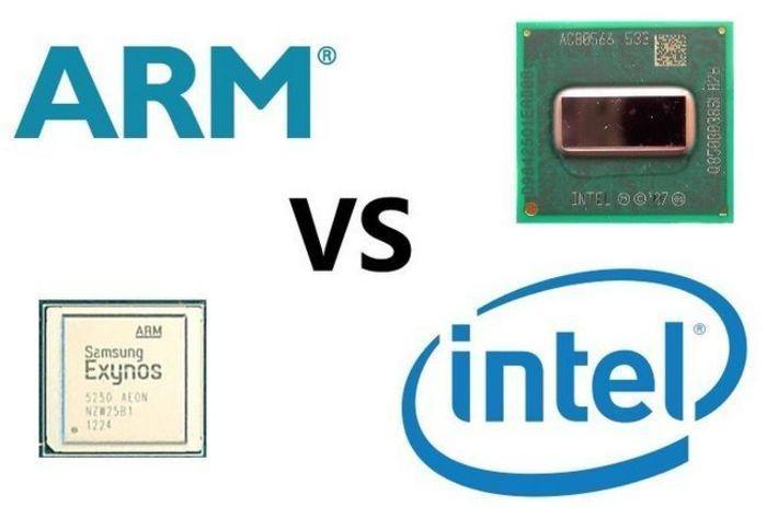 arm vs x86 logos