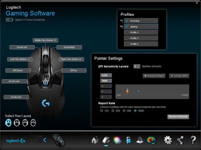 Configuración de ratón por software