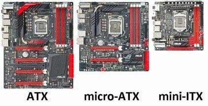 formatos de forma atx micro-atx mini-itx