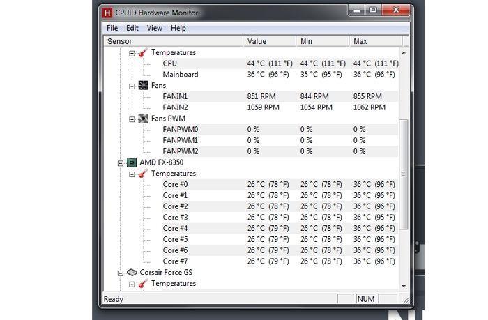Temperaturas app CPU