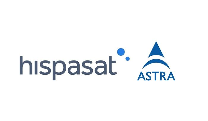 logos de los satélites Hispasat y Astra