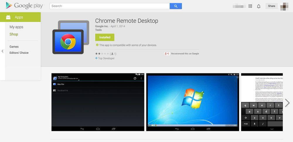 Chrome Remote Desktop, acceso remoto y control, programas