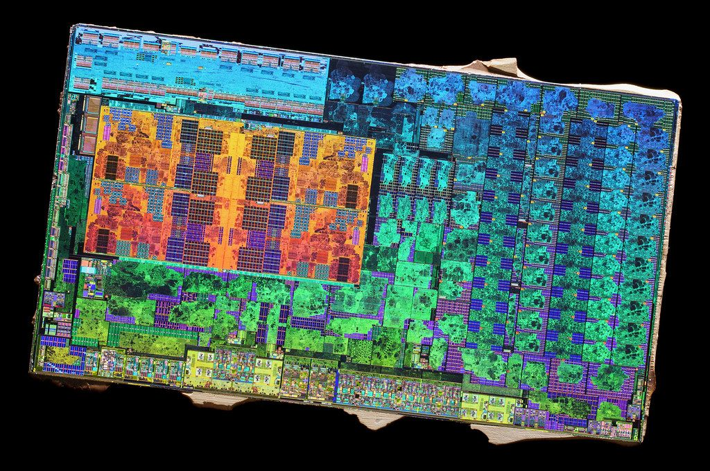 AMD Zen 14 nm die shot