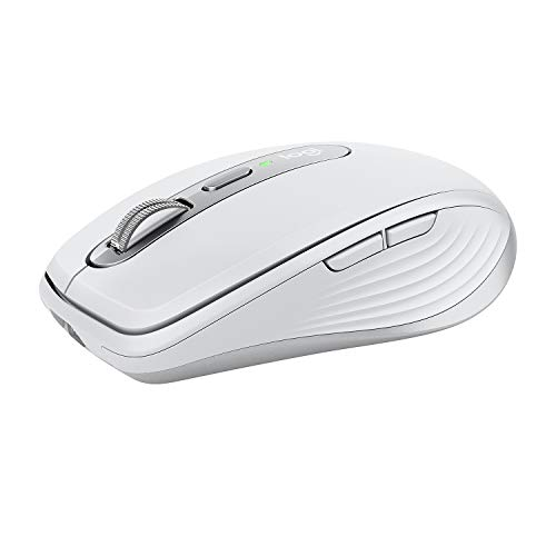 Logitech MX Anywhere 3 Compact Performance ratón: Inalámbrico, Scroll Magnético, Ergonómico, Sensor 4000 DPI, Botones Personalizables, USB-C, Bluetooth, Mac, PC, iPad, Portátil, Windows, Linux