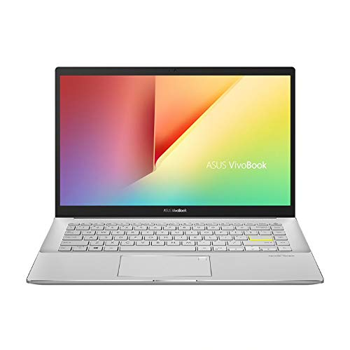 "ASUS VivoBook S14 S433JQ-EB166 - Ordenador portátil de 14"" FullHD (Intel Core i5-1035G1, 8GB RAM, 512GB SSD, NVIDIA MX350-2GB, Sin sistema operativo) Blanco - Teclado QWERTY Español"