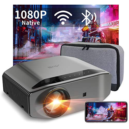 """Proyector WiFi Bluetooth 8000 Lúmenes, Artlii Energon2 Proyector Full HD 1080P Nativo Soporta 4K, 300"""" Proyector Cine en Casa, para Smartphone Android y iOS"""