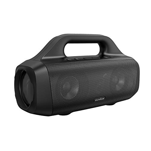 Altavoz Portátil Anker Soundcore Motion Boom de Exterior con Bluetooth, con Diafragma de Titanio, Tecnología BassUp, Resistente al Agua IPX7, 24 h de Reproducción, Aplicación Soundcore y Asa Integrada