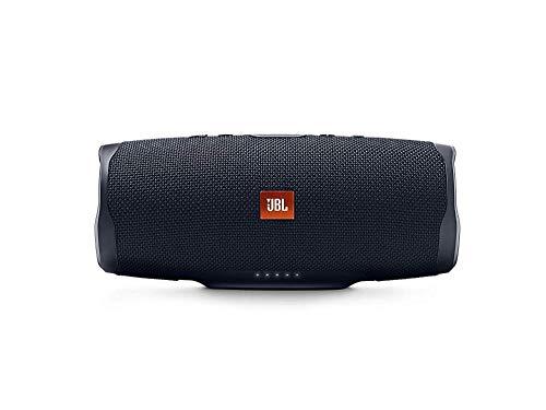 JBL Charge 4 Altavoz inalámbrico portátil con Bluetooth, parlante resistente al agua (IPX7), JBL Connect, hasta 20 h de reproducción con sonido de adecuada fidelidad, negro