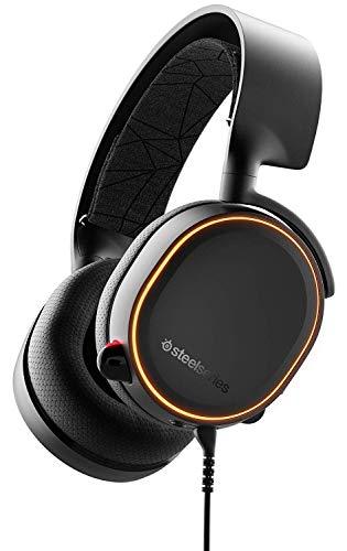 SteelSeries Arctis 5 Auriculares De Juego, Iluminados Por Rgb, Dts Headphone:X V2.0 Surround Para PC, Playstation 5 Y PlayStation 4 - Negro
