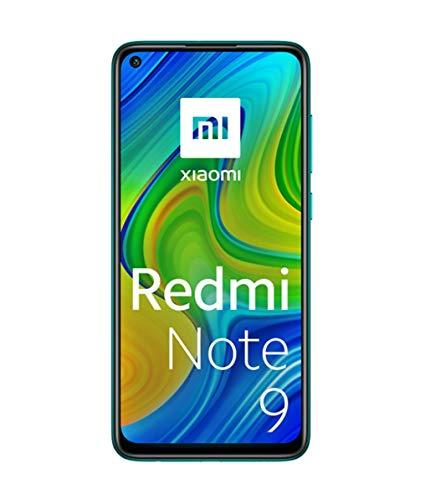 """Xiaomi Redmi Note 9 - Smartphone con Pantalla FHD+ de 6.53"""" DotDisplay (3GB+64GB, Cámara cuádruple de 48MP con IA, MediaTek Helio G85, Batería 5020mAh), Verde, Ver Oficial"""