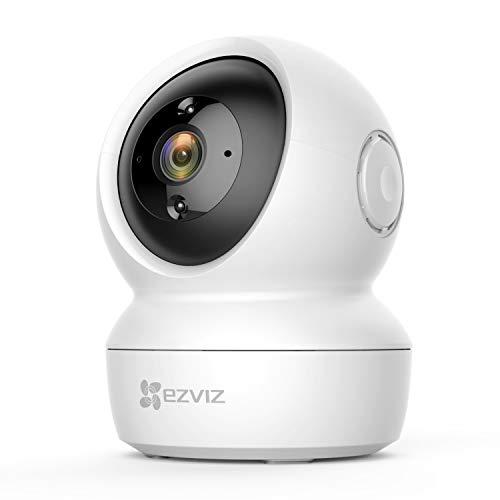 EZVIZ Cámara de Vigilancia WiFi Interior 1080P Cámara IP Domo 360º PTZ, Visión Nocturna, Detección de Movimiento, Audio Bidireccional, Compatible con Alexa y Google, Andriod/iOS, C6N