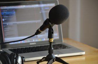 micrófono podcasting