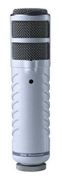 RODE Podcaster - Micrófono dinámico (diafragma, gran diafragma, conector USB), color plateado